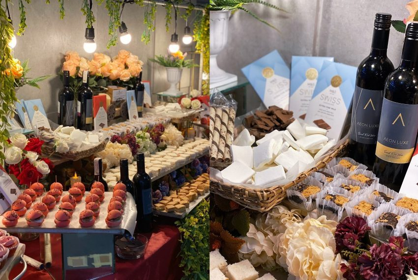 Sweet treats, pastries and wine