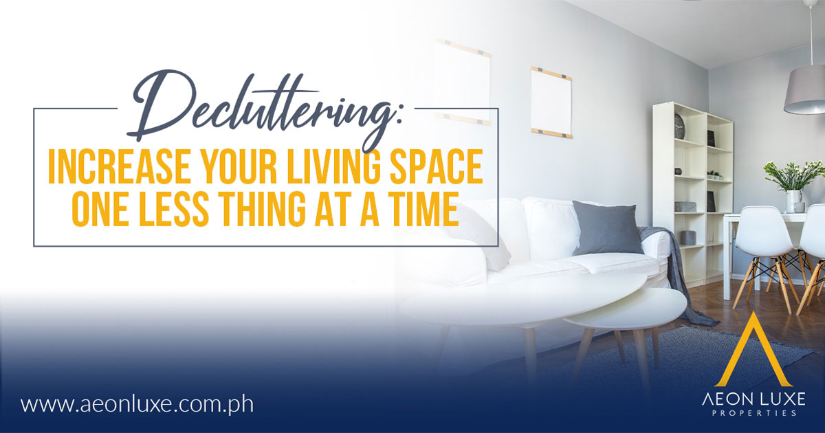 Decluttering Increase Your Living Space